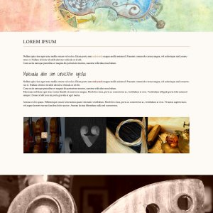 Lutherie site multipage